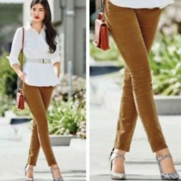 CAbi Pants - CAbi Umber Corduroy Cord Skinny Jean #3197 Size 4
